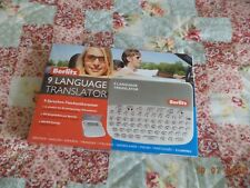 Berlitz 9 language translator - new