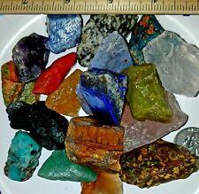 FREE Black Light 2500+Carat Mix Lot Natural Gem Rough Rock Crystals 15-30 LG Pcs