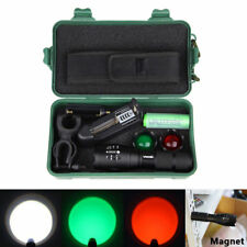 White Green Red 5000LM LED Tactical Flashlight Bicycle Hunting Torch Light 18650