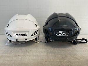 NEW! Reebok 4K Pro Stock Hockey Helmet White / Black 5003