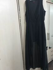 Glamour robe portefeuille/Noir