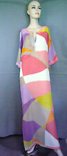 New Trina Turk Contemporary Print Silk Maxi Caftan Dress, sz 6