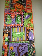 1-Eerie Pumpkin Stack & Halloween Creatures King Size Pillowcase New & Handmade!