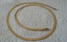 "10k 417 Italy Yellow Gold Herringbone Flat Chain Necklace 19.5"" 5.8g.Please read"