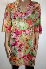 Unbranded Multi Floral Chiffon Short Sleeve Tunic Dress Size M BNWT #ST65