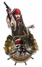 Jack Sparrow Pirates of the Caribbean Wall Mounted Cardboard Cutout Johnny Depp