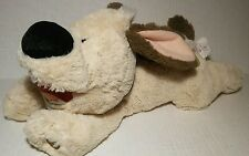 """Disney Store Mulan 15"""" Little Brother Plush Floppy Brown Dog Patch Lil"""