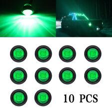 """10 Pcs 3 LED Green Light Bullet Round 3/4"""" 12V Mini Side Marker Trailer Truck RV"""