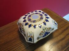 ZSOLNAY HUNGARY TRINKET   BOX COBALT AND GOLD [ZS]