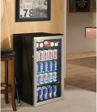 Beverage Center Cooler 3.3 Cu. Ft. Stainless Steel Man Cave Essential Bar Patio