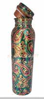 Copper Bottle Water Pure Health Benefits 950 ML Ayurveda Benefits Printed Bottle