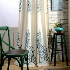 Cotton Linen Fabric Curtains Blackout Bedroom Blinds Drapes Window Cortinas Room