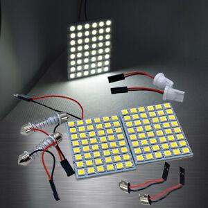 White 48 LED Lamp Dome Roof Light Panel T10 Festoon BA9S Adapter A H L S JP
