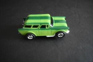 Slot Car Lime Green with green stripes Nomad  Swivel Pin