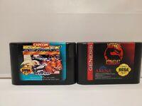 Mortal Kombat Sega Genesis 1993 Cartridge Only Street Fighter championship