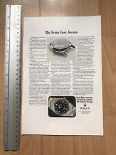 Rolex Explorer I 1016 1971 Advertisement Pub Ad Werbung