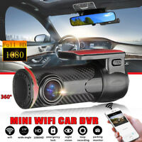 1080P Mini Hidden Lens CAR WiFi DVR Dash Cam Rear Camera Video Recorder APP 170°