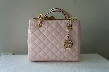 AUTH Michael Kors Purse Susannah Quilted Leather Small NS Crossbody Satchel Bag