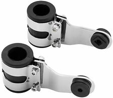BikeMaster - OXHB-005 - Rubber Mount Headlight Brackets, 35mm - Chrome