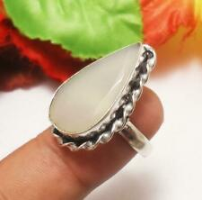 Rings Helpful Blue Aqua Chalcedony Fashion Jewelry Silver Plated Ring S28192
