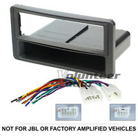 Car Stereo Radio CD Player Dash Installation Mounting Kit Mount Trim + Harness