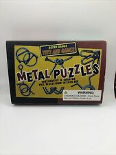 Retro Range Toys and Games~METAL PUZZLES~Set of 6~NEW in box