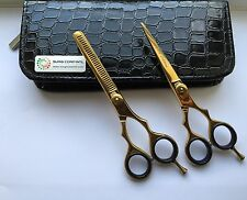 "Professional Hairdressing Saloon Scissors 5.5"" Set Scissors & Thinning Sharp Cut"