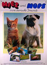 Miez und Mops - Zwei tierische Freunde - Filmplakat DIN A1 (gerollt)