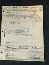 Circa 1904 Union Pacific Railroad Company Document