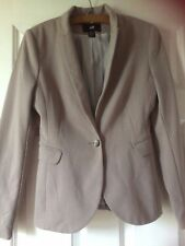 New no tags,H&M beige fully lined jacket,long sleeves,V.neck,button,EUR 36 UK ?8