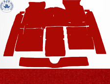 Carpet Set Carpet for Fiat 124 Sport Coupe Year 1967–1972 Velour Red