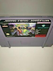 BATTLETOADS DOUBLE DRAGON Authentic SNES Super Nintendo Game Tested Rare