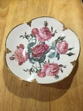 Smithsonian Collection Goebel Rose Bowl Thick Gold Trim