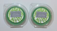LOT OF 2 BATH & BODY WORKS SPRING LEAVES WAX MELTS TART WHITE BARN CANDLE REFILL