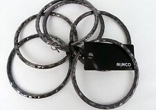 MIMCO Jewellery- Hammered Bangle Stack Wrist/ Bracelet BNWT- Gunmetal