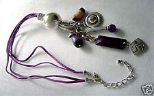 Tolle Textil Kette Dishita purple