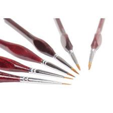 Miniature Paint Brushes Kit 6pcs/ Set fr Fine Detailing Painting Art Model Maker