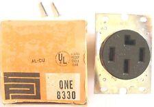 Pass & Seymour 30A 120V / 208V Flush Mount Black Single Receptacle 8330 #6e0