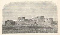 A6290 Manfredonia - Castello - Stampa Antica del 1928 - Incisione