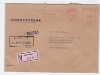 Germany commerz bank meter mail  wax seals  stamps cover ref r20066