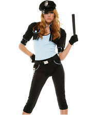 Persuasive Patrol Sexy Police Woman Naughty Cop Womens Halloween Costume M/L