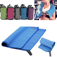 Microfiber Towel Sports Bath Gym Quick Dry Travel Swimming Camping Quick Drying