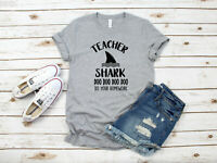 Teacher Shark doo doo Teachers week Women's T-Shirt Tee T shirts Brand New