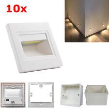 10er Set 2,5W LED Wand & Treppenbeleuchtung Stufenlicht Leuchte 230V mit Dosen