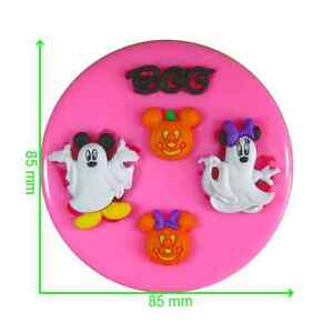 Disney Halloween Mickey & Minnie Mouse Ghosts Silicone Mould by Fairie Blessings