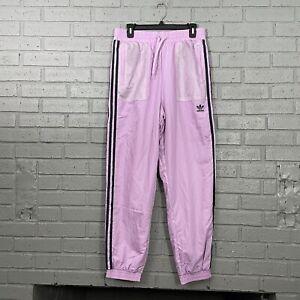 $65 Adidas Originals Nylon Track Jogger Pants Womens Size M Magic Berry GP2155
