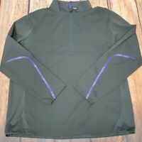 RLX Ralph Lauren Golf Mens Grey Water Repellent 1/4 Zip Wind Jacket XL