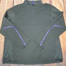 RLX Ralph Lauren Golf Mens Grey Water Repellent 1/4 Zip Wind Jacket XL