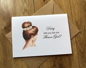 Personalised Will you be Our Bridesmaid,My Flower Girl, Maid of Honour, Invite