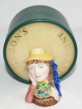 MASONS Ironstone Female Lady with Hat & Flowers MINIATURE JUG 5.5cm - Boxed